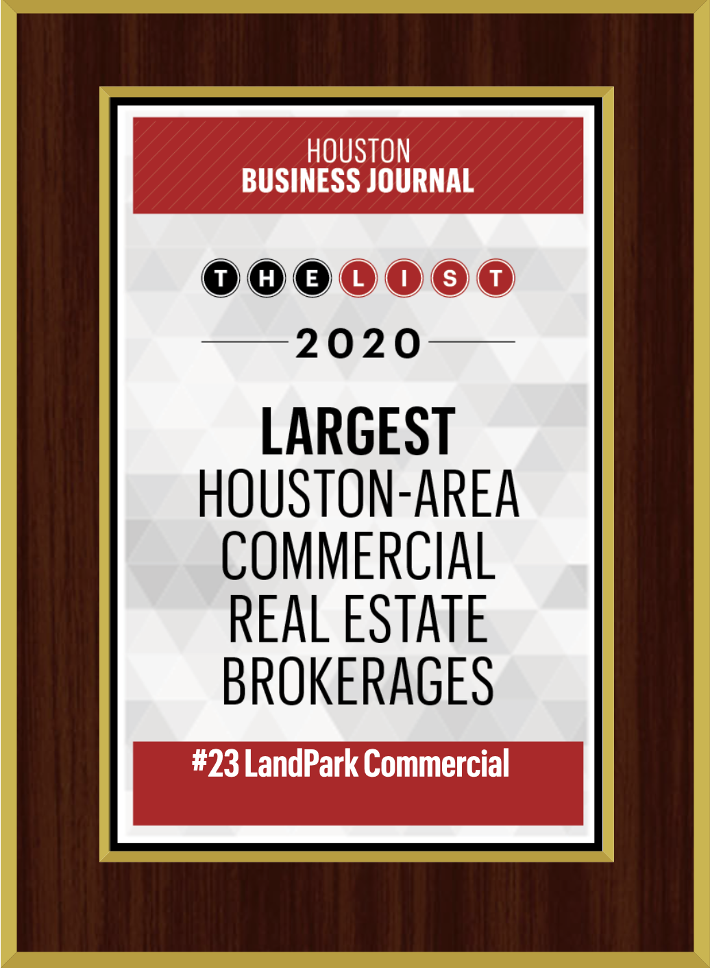23 - Largest Houston Area Commercial Real Estate Brokerages